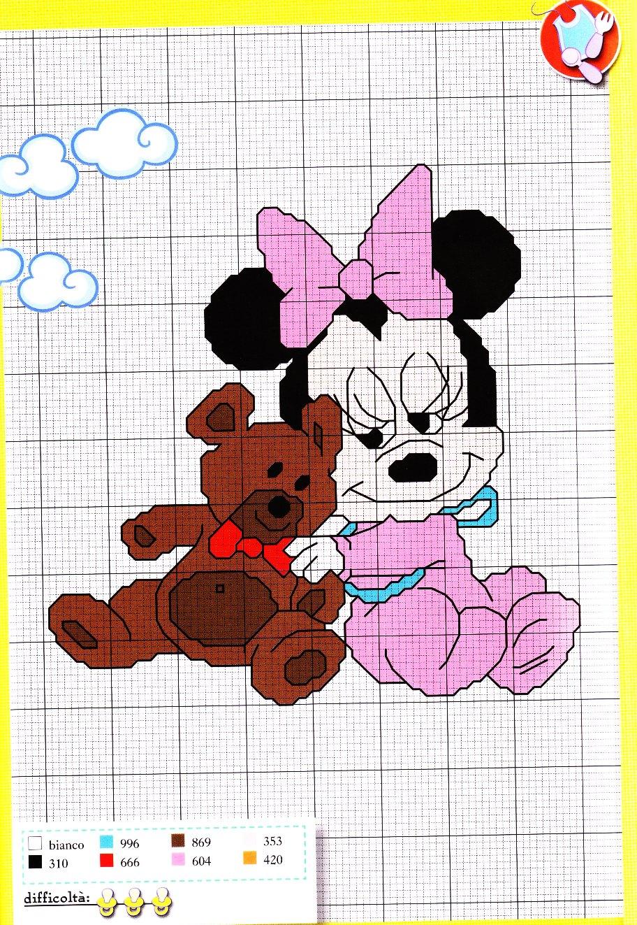 Bien-aimé Schemi Punto Croce Disney Baby. Excellent Schema Punto Croce Qui  YD53