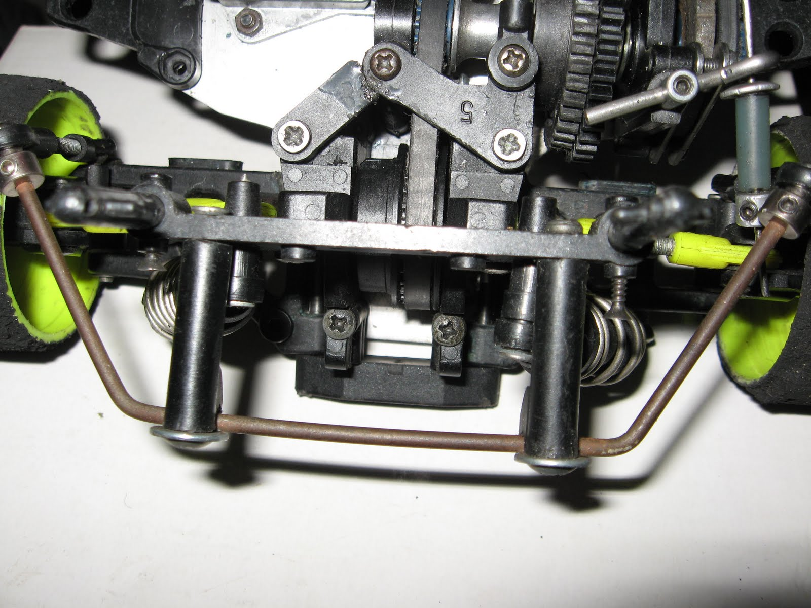 Rear Top Suspension View With