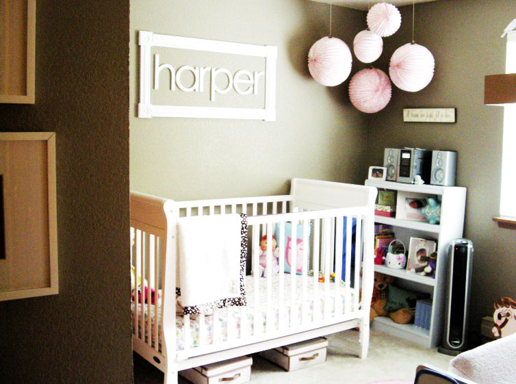 Ideas to inspire a pink and brown modern nursery bobo 39 s for Modern baby nursery