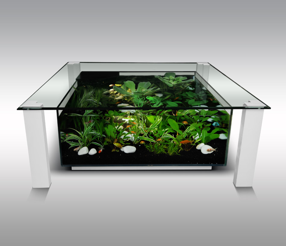 décoration table aquarium