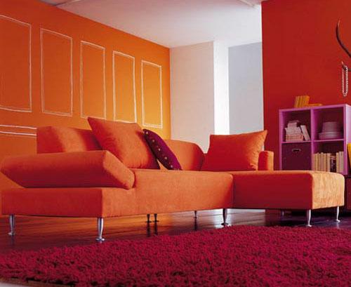 Chambre Adolescent Bleu Gris : Fauteuil orange très agréable