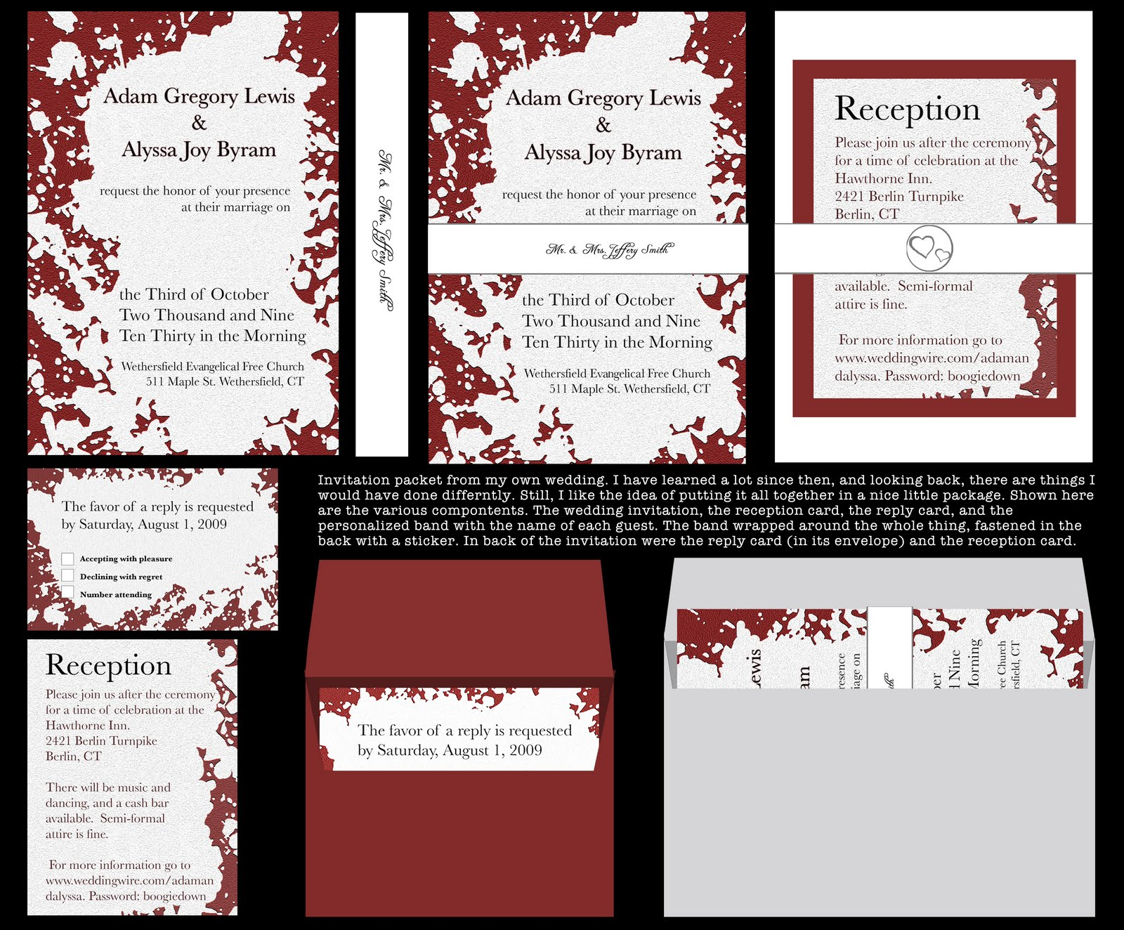 wedding invitation packet - 28 images - personalized oak tree ...