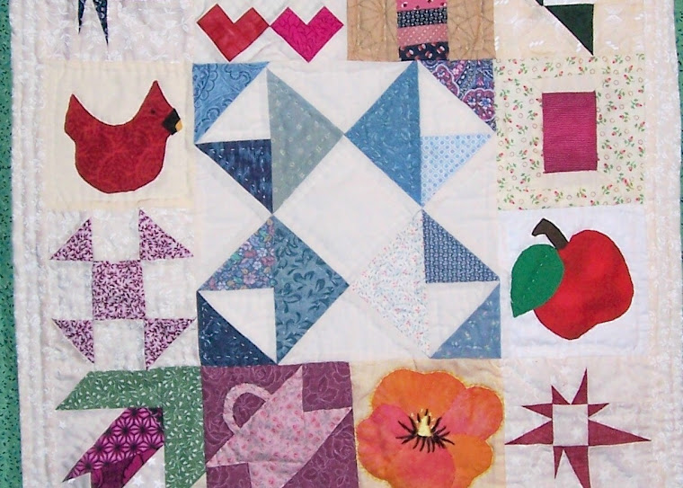 Sampler made for story in Heavenly Patchwork II