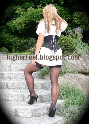 fully fashiond stockings and high heels