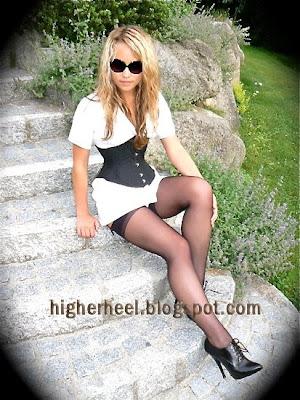 black oxford high heels