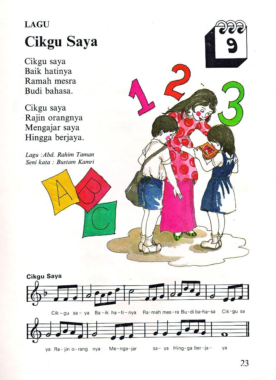 Bk Early Childhood Education Specialist Bk Pakar Pendidikan Awal Kanak Kanak Lagu Dan Nyanyian Kanak Kanak Tadika