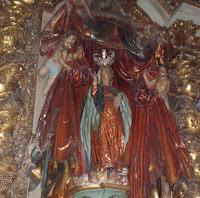 Pregnant Mary at Santiago de Compostela