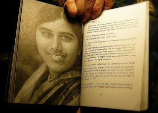Mother Meera Photo in her Book