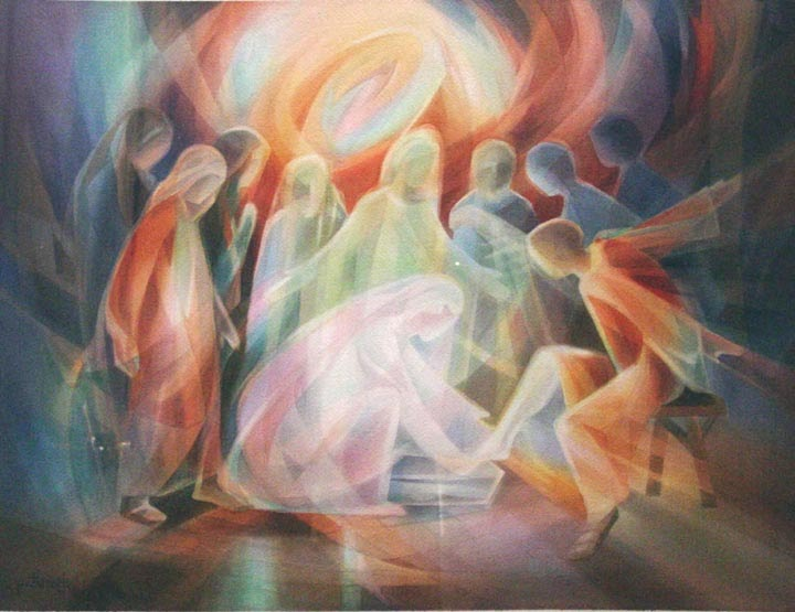 Washing Jesus S Feet Painting