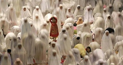Women Praying in Ramadan