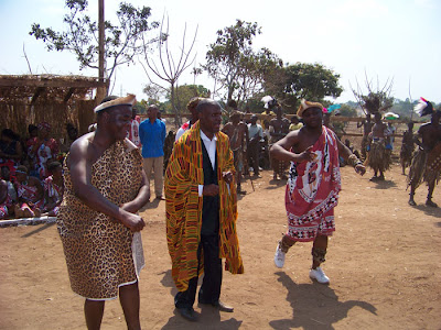 Inkosi Gomani and his Induna at the Ngoma or Ngoni Festival