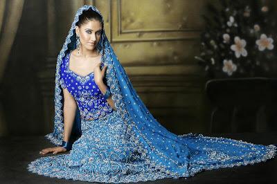 Blue Punjabi Wedding Dress