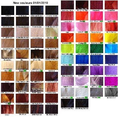 Dreads synth tiques cyberlox palette de couleur - Palette de couleur html ...