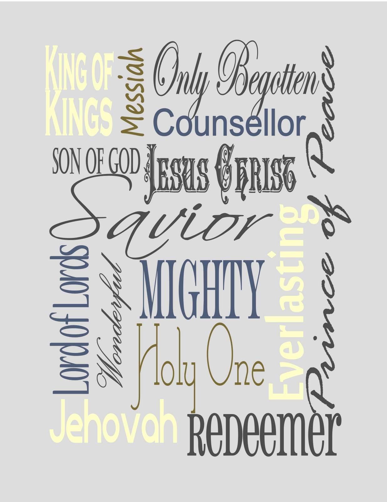 This is a photo of Crafty Free Printable Names of God