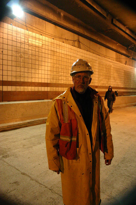 Dave Surveying Big Dig Tunnel, Boston 3