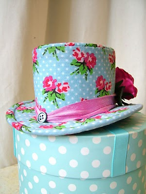 top hat template. Pink Silk Mini Top Hat