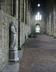 Statue in the South Transept, Tintern Abbey
