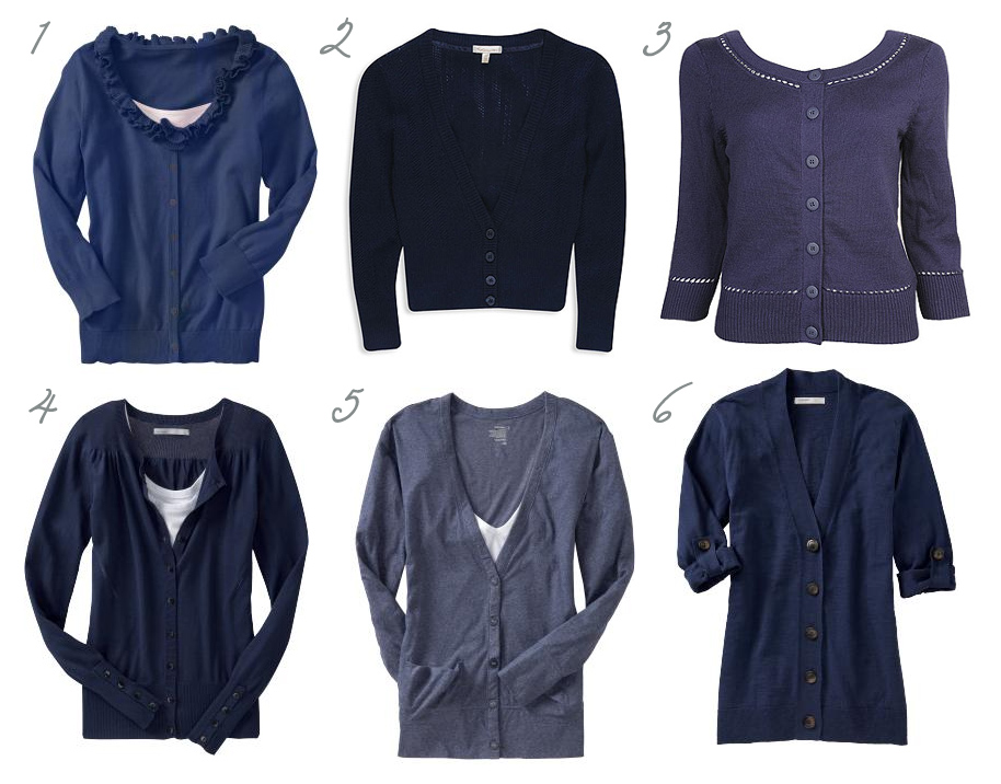 Über Chic for Cheap: Reader Request: Navy Cardigans