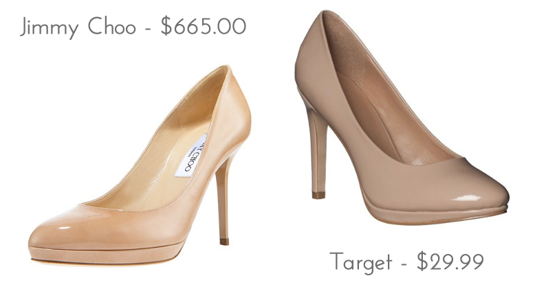 Über Chic for Cheap: Look for Less: Jimmy Choo Pantent Round-Toe Pump