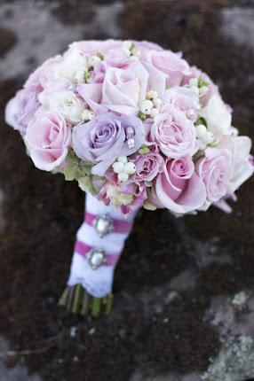 bouquet VINTAGE. Con perlas.