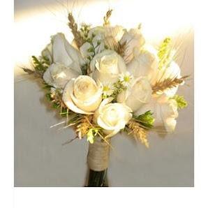 bouquet AVENE. Rosas y espigas.