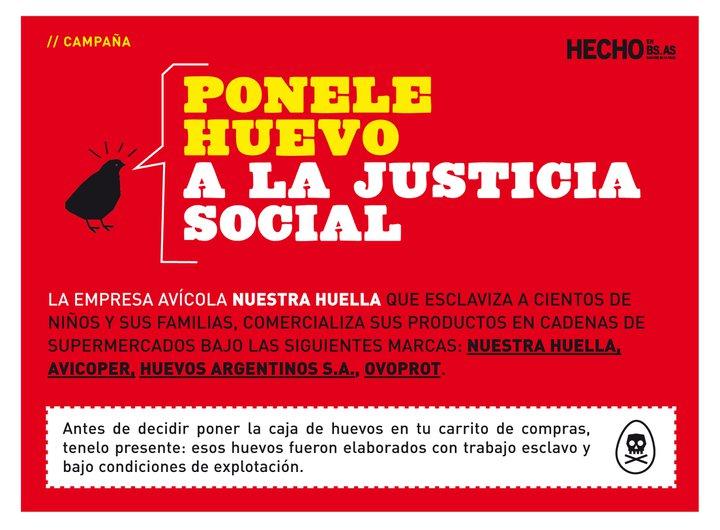 Campaña Ponéle Huevo contra avícola Nuestra Huella
