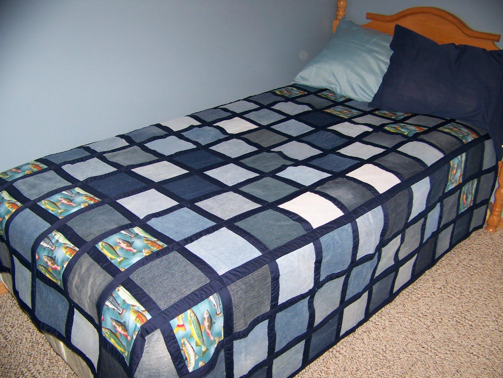 Одеяло из старых джинсов выкройка
