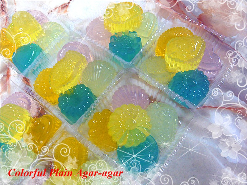 how to make colourful agar agar