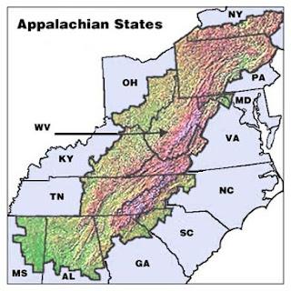 Orlando West Virginia Appalachia The Map - Appalachia map