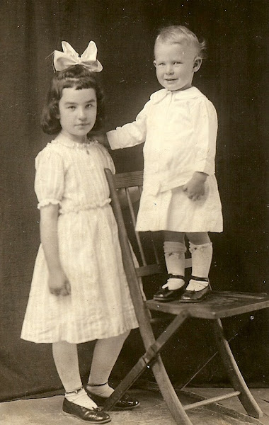 John and his big sister, Ruby Nell
