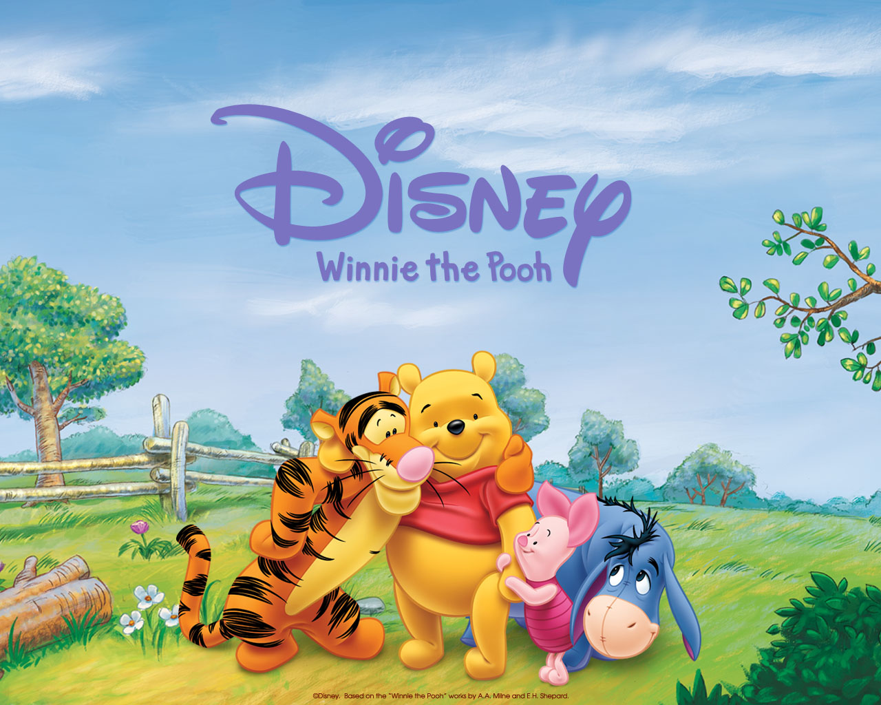 Disney Tapete Winnie Pooh : Winnie the Pooh Characters