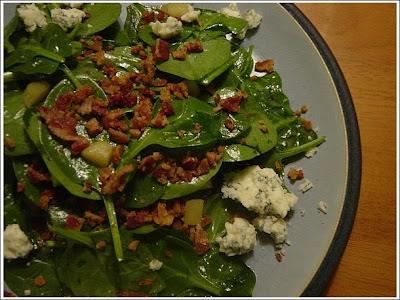 ... Teacher Learns to Cook: Wilted Spinach Salad with Warm Bacon Dressing