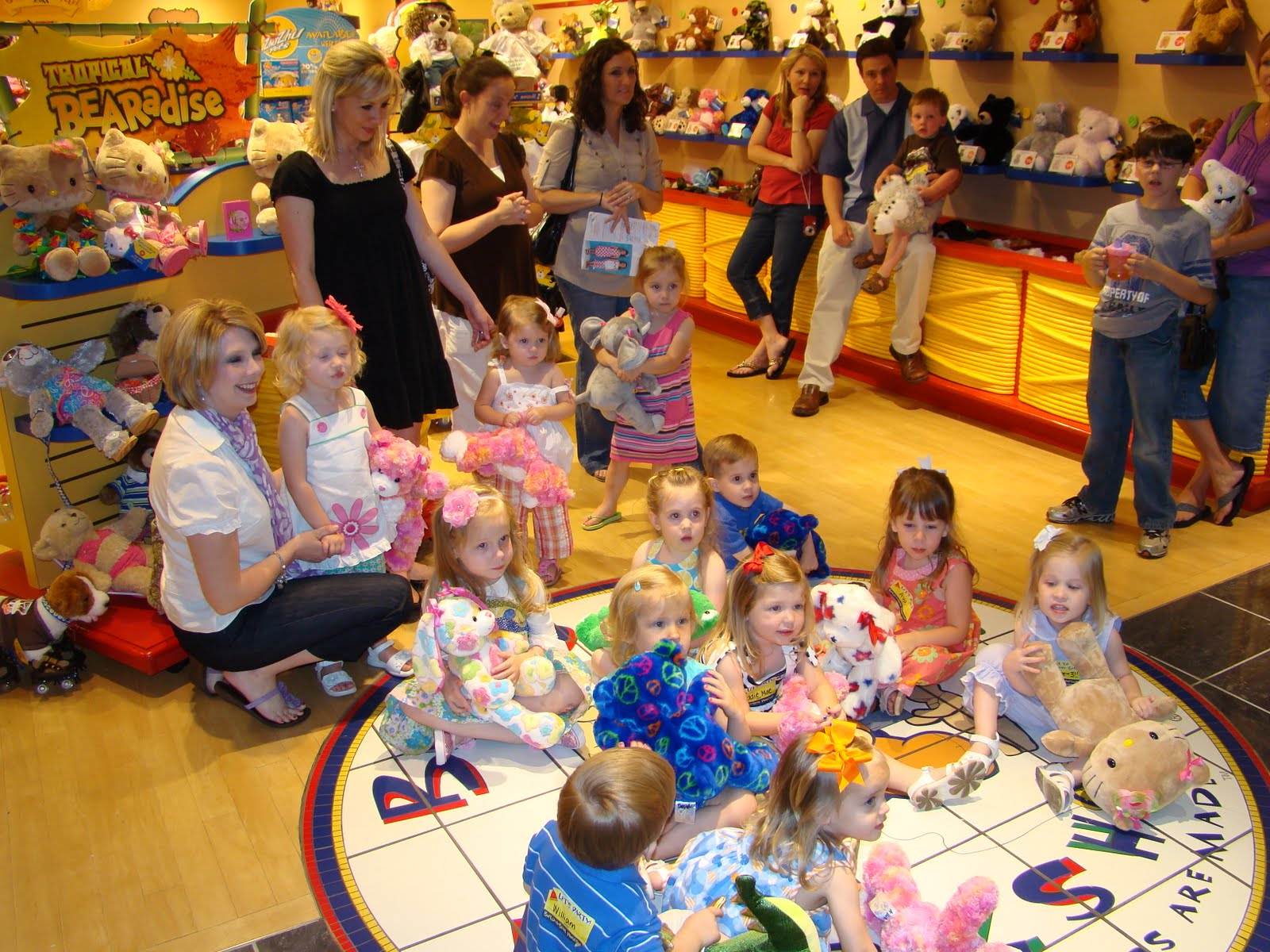 Our Little Family Build A Bear Birthday Party