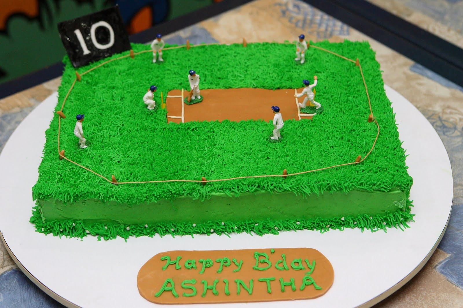 Cricket Birthday Cake Images : Harshi s Cakes & Bakes: Cricket Match
