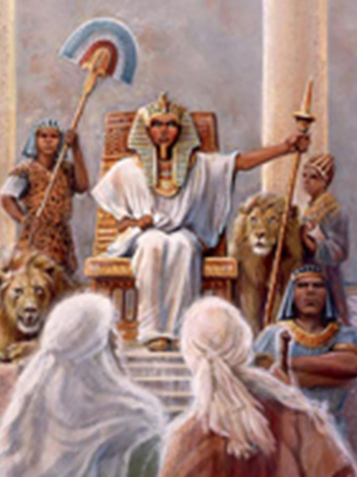 Moses stopped at the door before pharaoh s court the guard reached