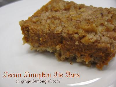 ... Forbes - Gingerlemongirl.com: Pecan Pumpkin Pie Bars (Gluten Free