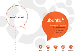 Ubuntu Poster Afrikaans