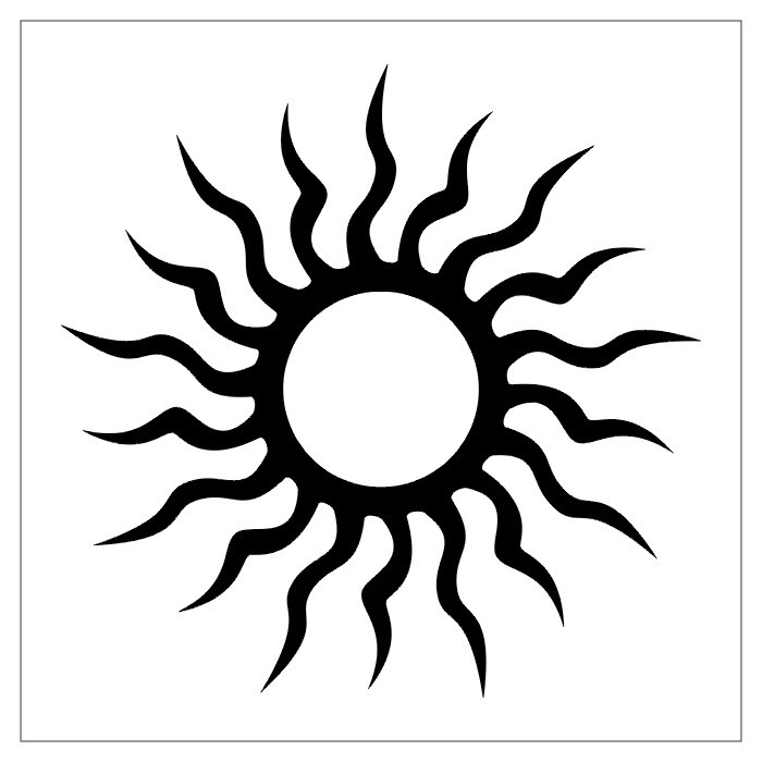 tattoo designer: sun tribal tattoo design