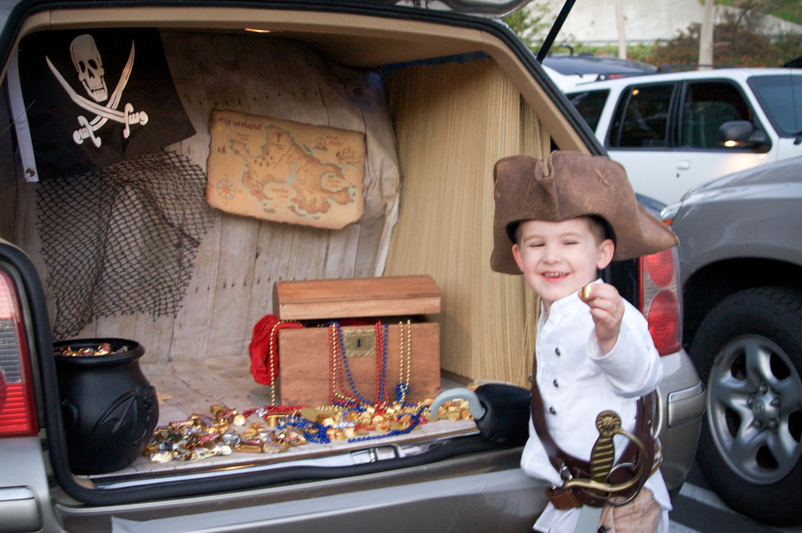 violently happy trunk or treat