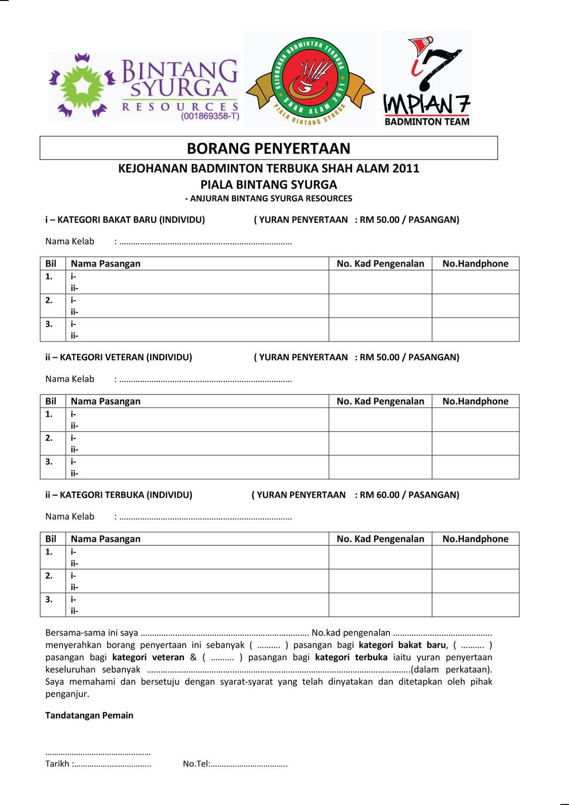Impian 7 Badminton Team: KEJOHANAN BADMINTON TERBUKA SHAH ...