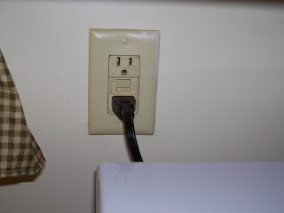 Wall outlet finished