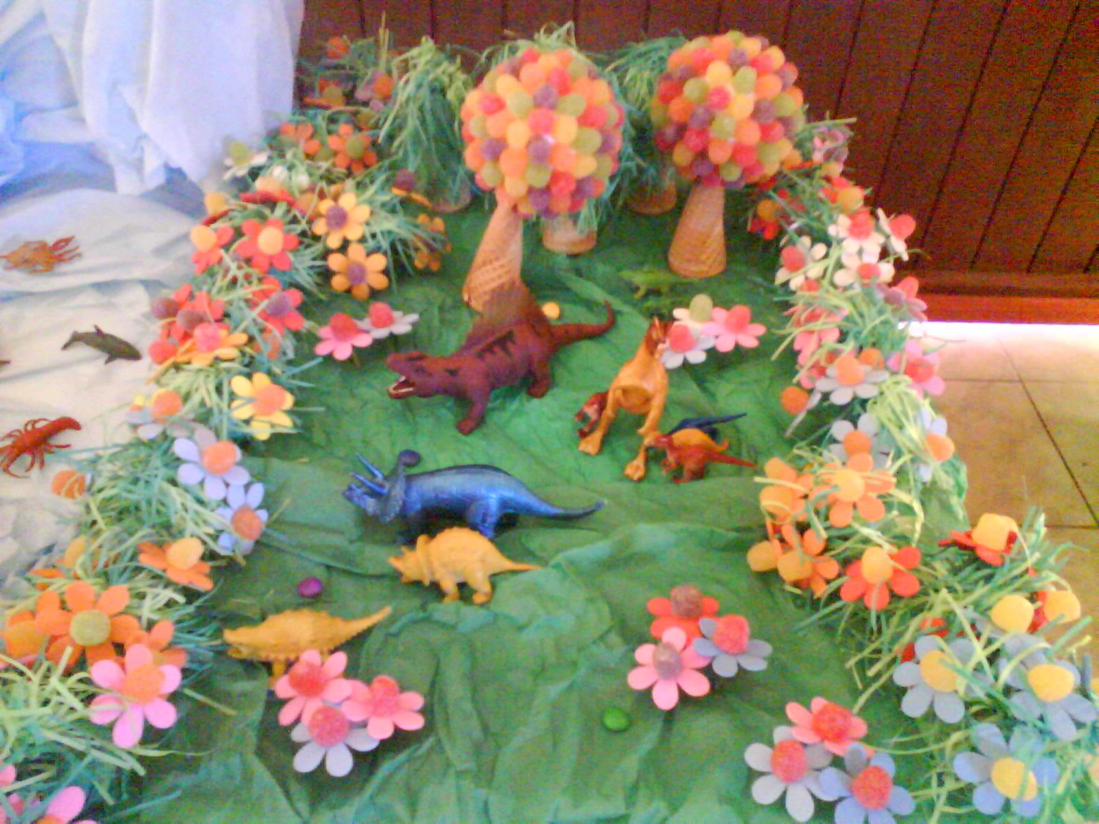 ARTE BUGIGANGA Festa Infantil Dinossauros -> Decoração De Mesa Festa Dinossauro