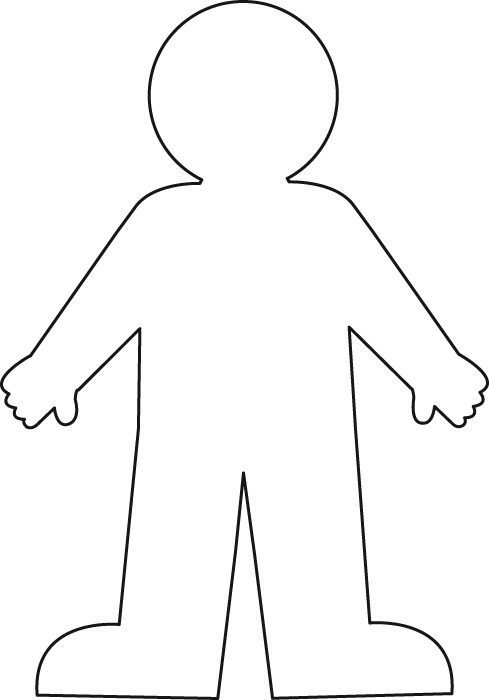 body outline Colouring Pages