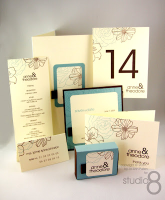 completed the whole wedding package From Table Number Card Place Card