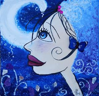 fille princesse fée du soleil illustration illustratrice peinture