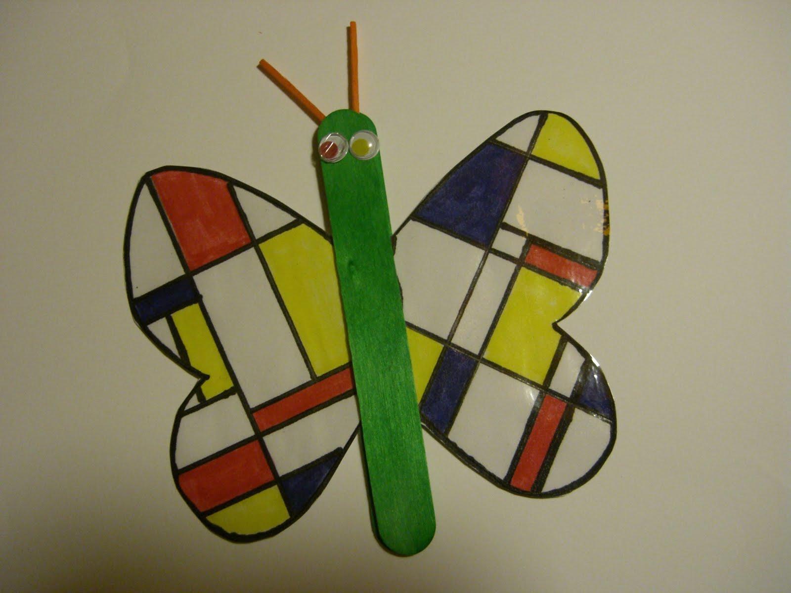 kunstraum: Der Mondrian Schmetterling