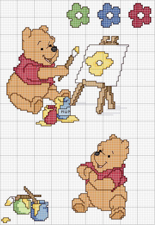Schemi punto croce schemi punto croce bambini winnie for Punto croce disney winnie the pooh