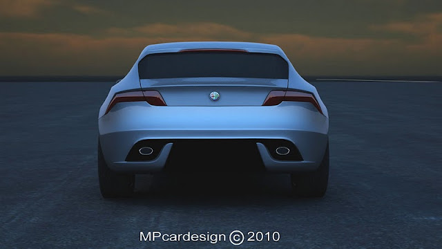 2011 alfa romeo sports coupe concept rear view 2011 Alfa Romeo Sports Coupe