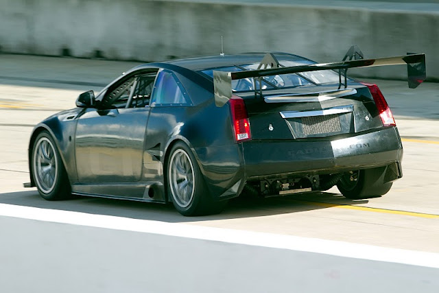 2011 cadillac cts v coupe racer scca rear angle view 2011 Cadillac CTS V Coupe Racer SCCA