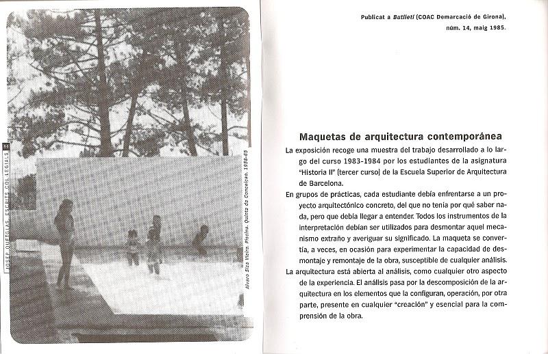 S o l s o n a u n o josep quetglas maquetas de arquitectura for Josep quetglas
